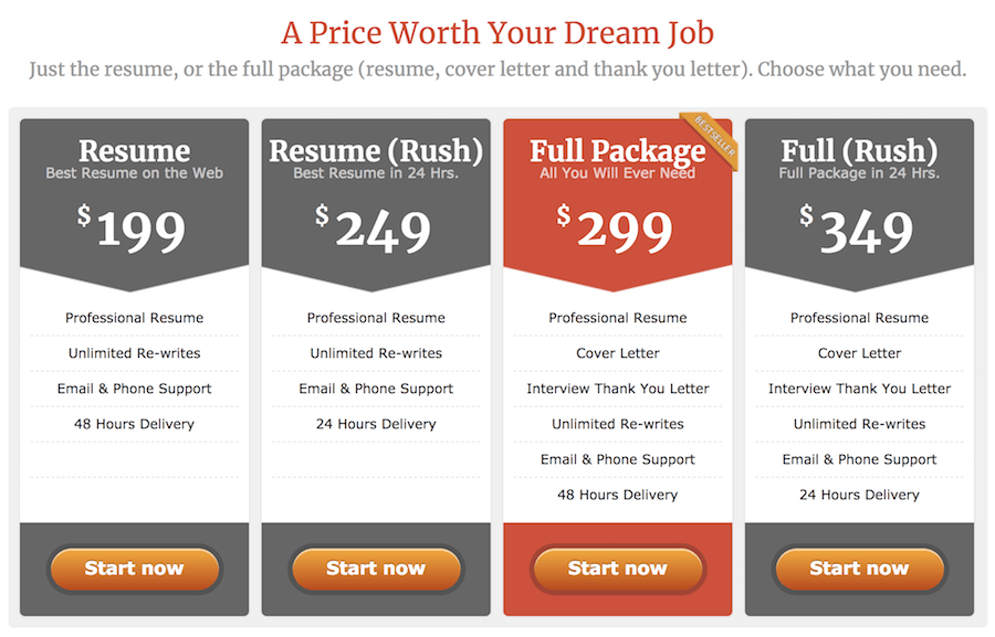 Vault resume writing services