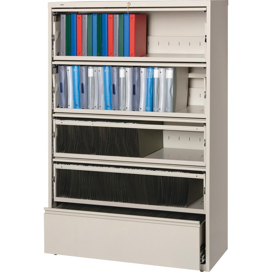 Lorell 43516 42-inch Receding Cabinet with Roll-out Shelves