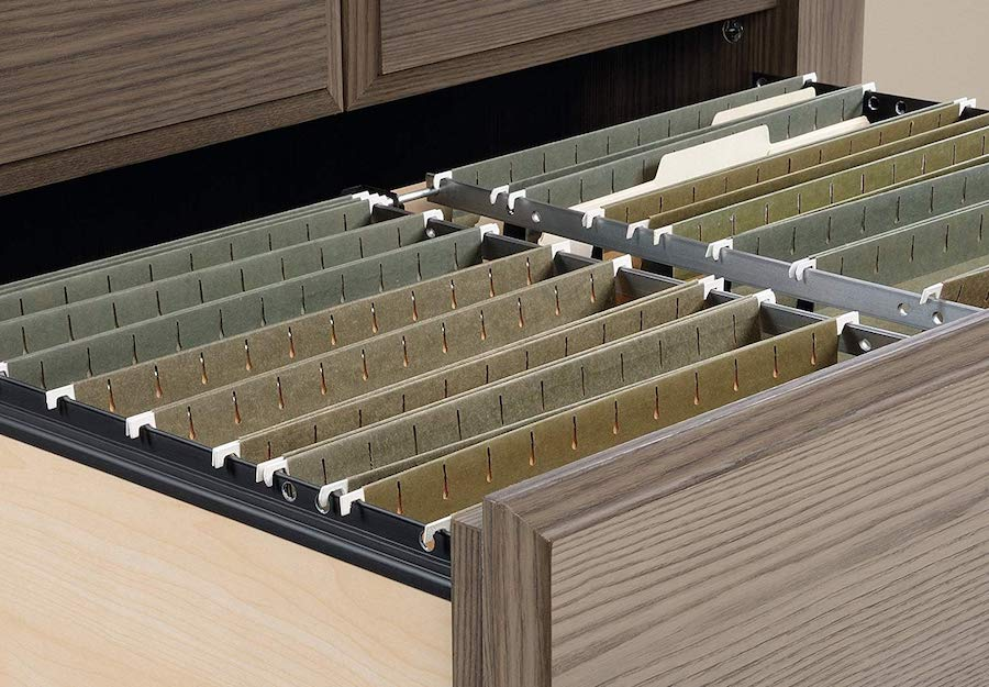filing systems in cabinet
