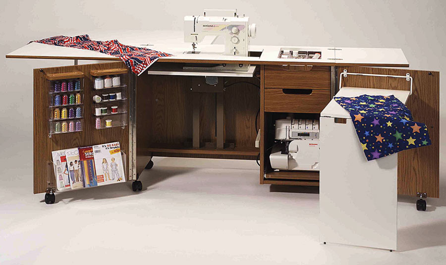 Fashion Sewing Cabinets Model 5400 Ultimate Sew & Serge Credenza