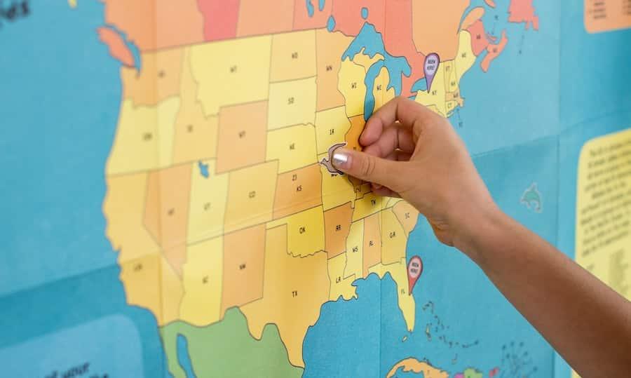 USA states map