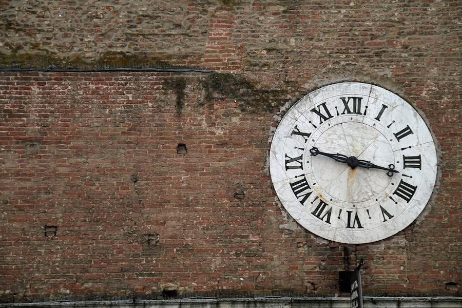 clock and wall