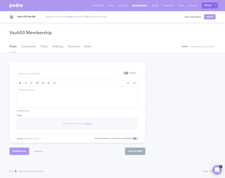 Create Membership Post