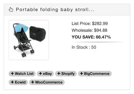 Baby stroller price via supplier