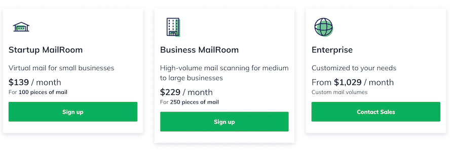 mailroom plans Flexible-Virtual-Mail-Pricing-Earth-Class-Mail